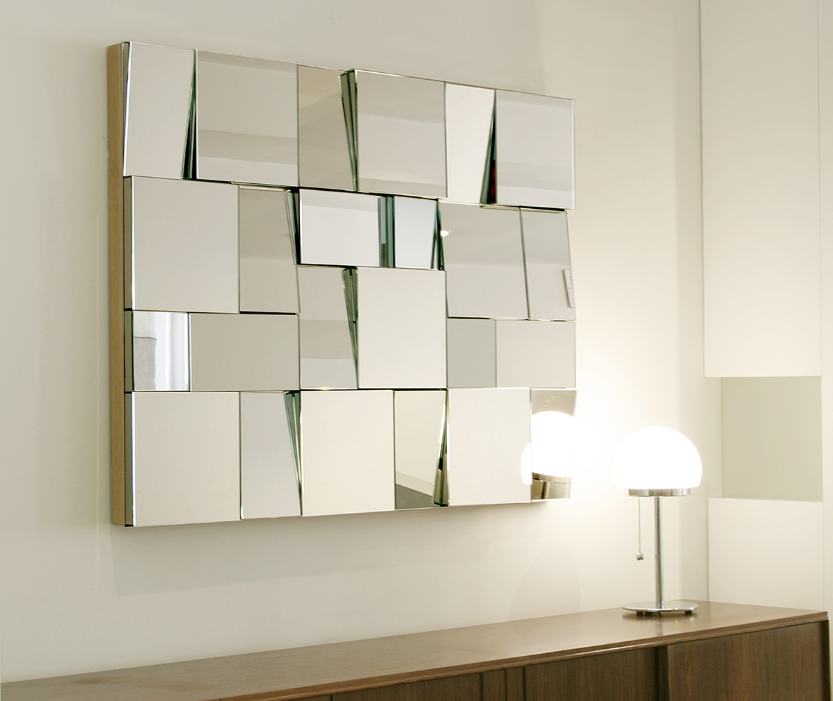 Wall sized mirror