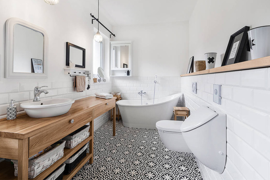 скандинавская ванная фото